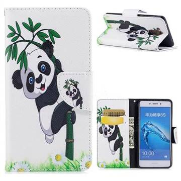 Bamboo Panda Leather Wallet Case for Huawei Enjoy 6s Honor 6C Nova Smart
