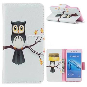 Owl on Tree Leather Wallet Case for Huawei Enjoy 6s Honor 6C Nova Smart