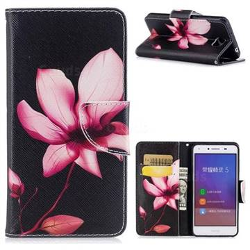 Lotus Flower Leather Wallet Case for Huawei Y5II Y5 2 Honor5 Honor Play 5