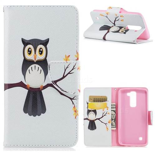 Owl on Tree Leather Wallet Case for LG K8