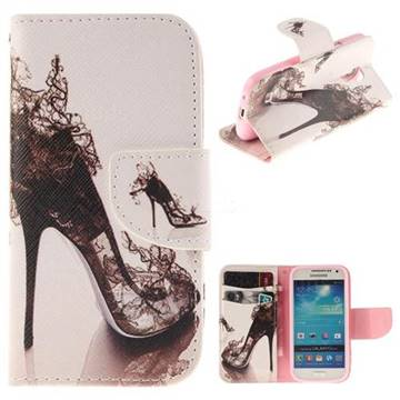 High Heels PU Leather Wallet Case for Samsung Galaxy S4 Mini i9190