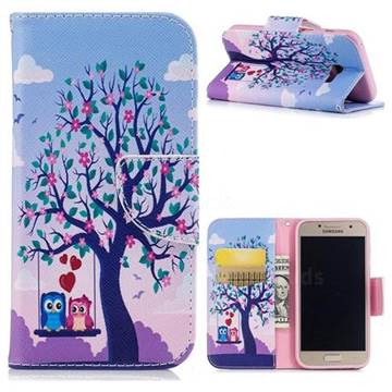 Tree and Owls Leather Wallet Case for Samsung Galaxy A3 2017 A320
