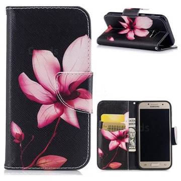 Lotus Flower Leather Wallet Case for Samsung Galaxy A3 2017 A320