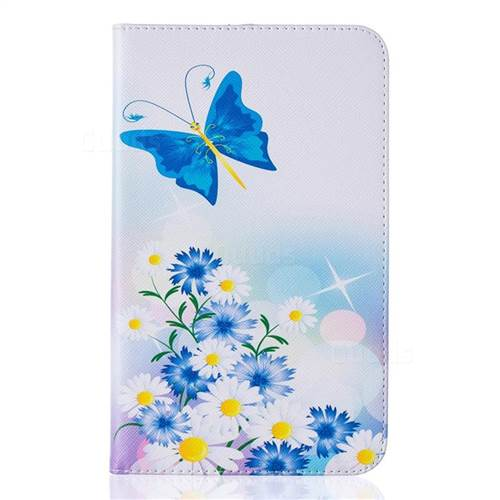 butterflies flowers folio stand leather wallet case for samsung