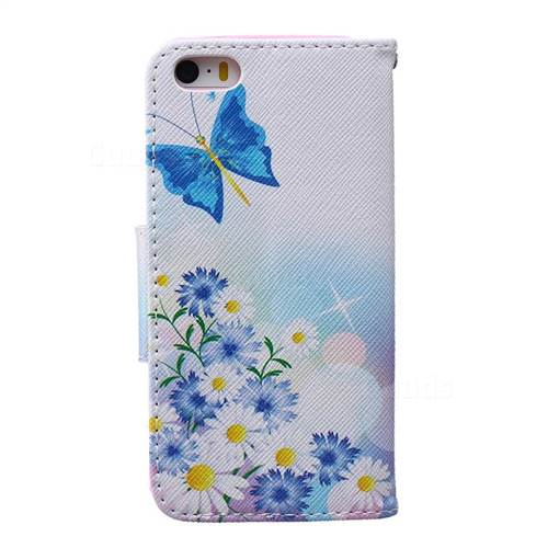 butterflies flowers leather wallet case for iphone 5s iphone 5