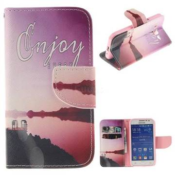 Seaside Scenery PU Leather Wallet Case for Samsung Galaxy Core Prime G360