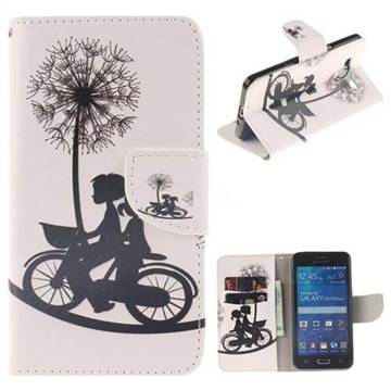 Cycling Dandelion PU Leather Wallet Case for Samsung Galaxy Grand Prime G530