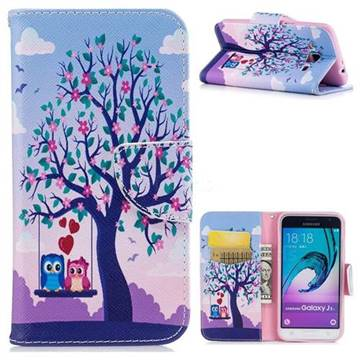 Tree and Owls Leather Wallet Case for Samsung Galaxy J3 2016 J320