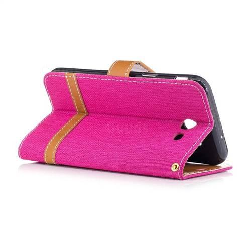 Jeans Cowboy Denim Leather Wallet Case for Samsung Galaxy J3 2017 J330 - Rose