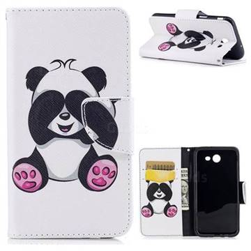 Lovely Panda Leather Wallet Case for Samsung Galaxy J3 2017 J330