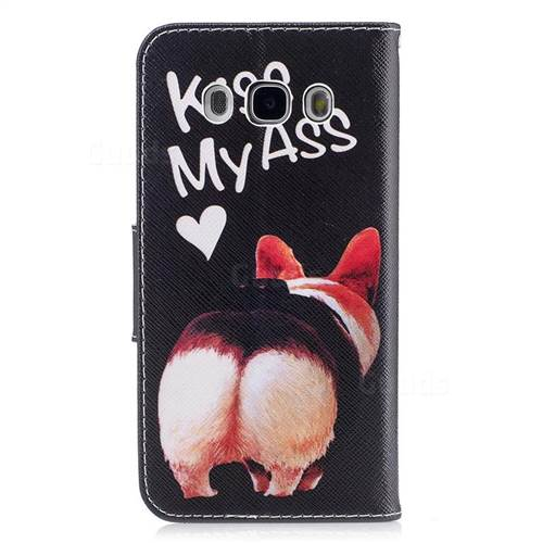 Lovely Pig Ass Leather Wallet Case for Samsung Galaxy J5 2016 J510