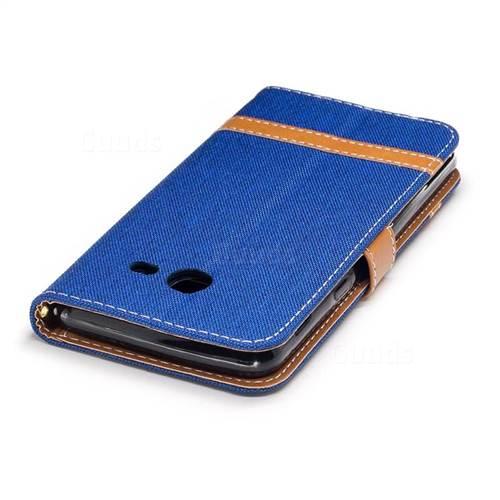 Jeans Cowboy Denim Leather Wallet Case for Samsung Galaxy J5 2017 J530 - Sapphire