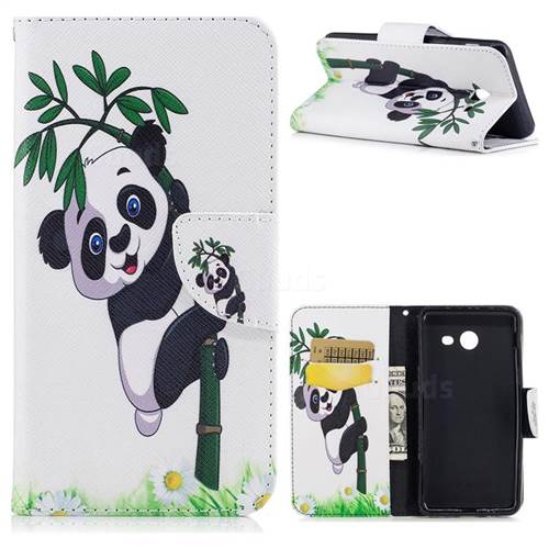 Bamboo Panda Leather Wallet Case for Samsung Galaxy J5 2017 J530