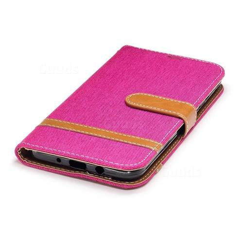 Jeans Cowboy Denim Leather Wallet Case for Samsung Galaxy J7 2017 J730 - Rose