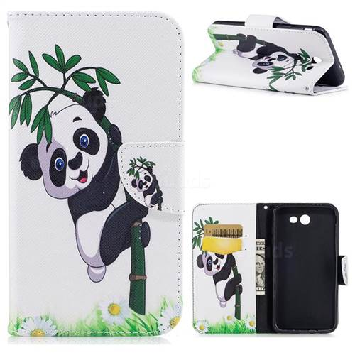 Bamboo Panda Leather Wallet Case for Samsung Galaxy J7 2017 J730