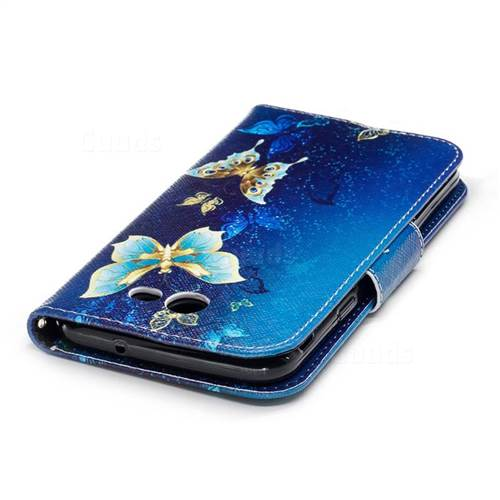 Golden Butterflies Leather Wallet Case for Samsung Galaxy J7 2017 J730