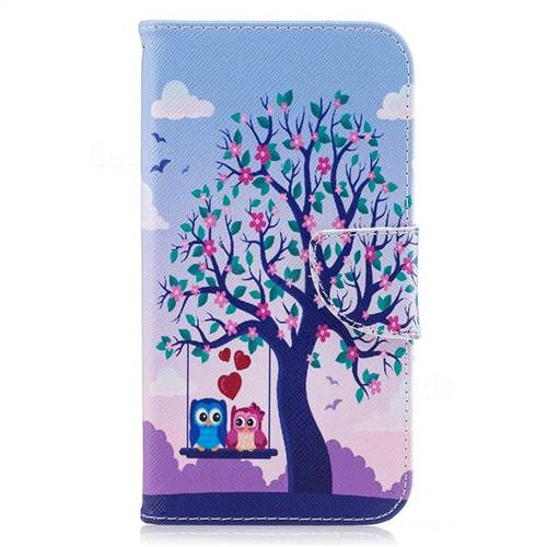 Tree and Owls Leather Wallet Case for Samsung Galaxy J7 2017 J730
