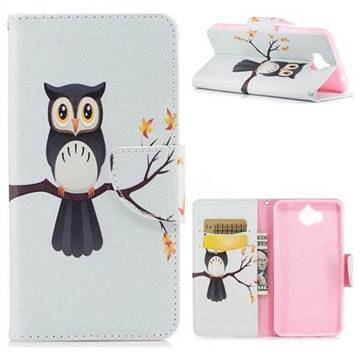 Owl on Tree Leather Wallet Case for Huawei Y5 (2017)