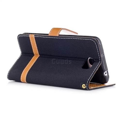 Jeans Cowboy Denim Leather Wallet Case for Huawei Y5II Y5 2 Honor5 Honor Play 5 - Black