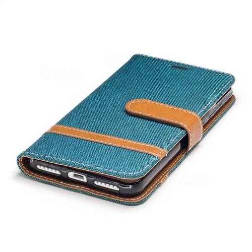 Jeans Cowboy Denim Leather Wallet Case for Huawei Y5II Y5 2 Honor5 Honor Play 5 - Green