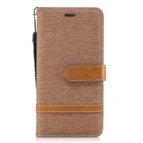 Jeans Cowboy Denim Leather Wallet Case for Huawei Y5II Y5 2 Honor5 Honor Play 5 - Brown