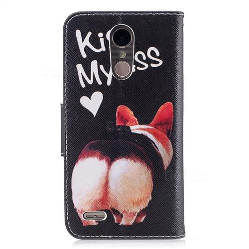 Lovely Pig Ass Leather Wallet Case for LG K10 2017