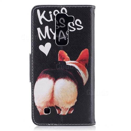 Lovely Pig Ass Leather Wallet Case for LG K8