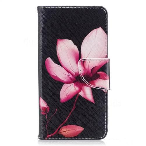 Lotus Flower Leather Wallet Case for LG K8