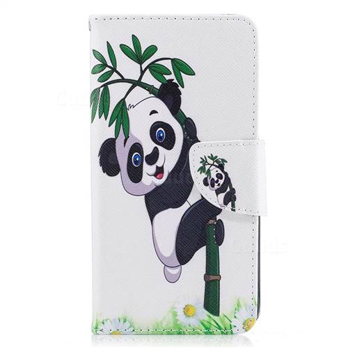 Bamboo Panda Leather Wallet Case for LG K8 2017