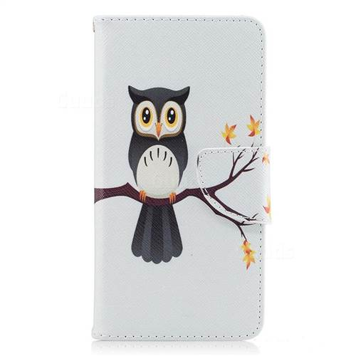 Owl on Tree Leather Wallet Case for LG K8 2017