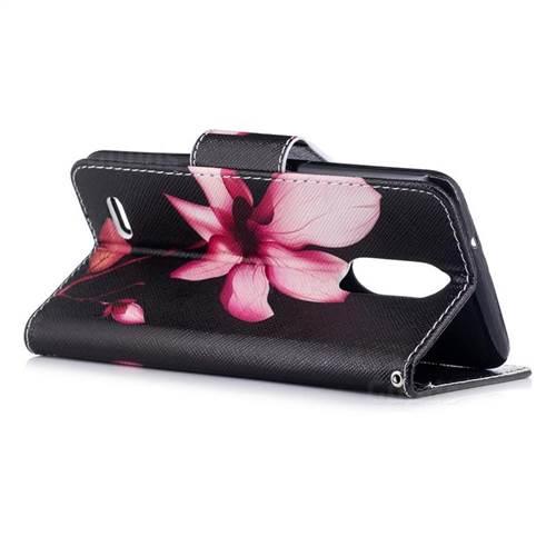Lotus Flower Leather Wallet Case for LG K8 2017