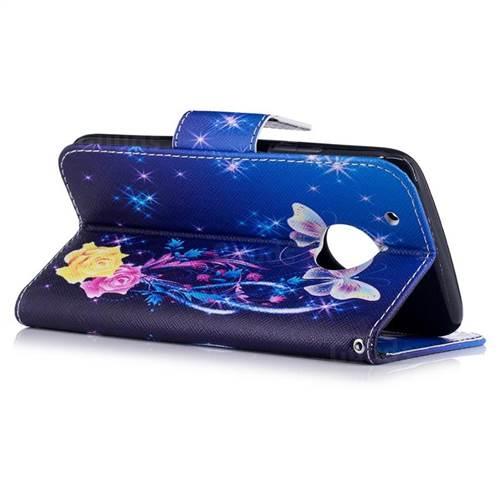 Yellow Flower Butterfly Leather Wallet Case for Motorola Moto G5 Plus