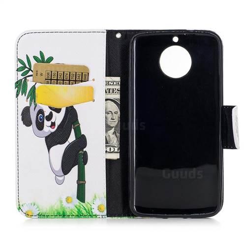 Bamboo Panda Leather Wallet Case for Motorola Moto G6