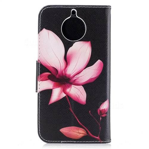 Lotus Flower Leather Wallet Case for Motorola Moto G6