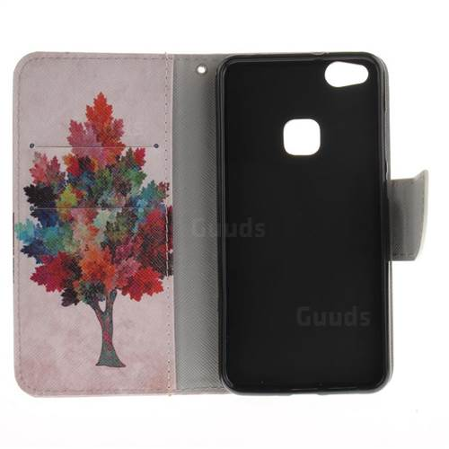 Colored Tree PU Leather Wallet Case for Huawei P10 Lite P10Lite
