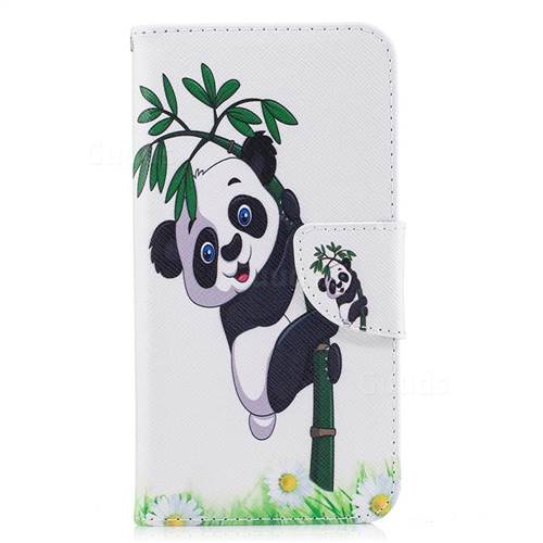 Bamboo Panda Leather Wallet Case for Huawei P10 Lite P10Lite