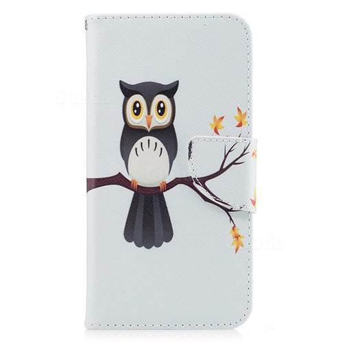 Owl on Tree Leather Wallet Case for Huawei P10 Lite P10Lite