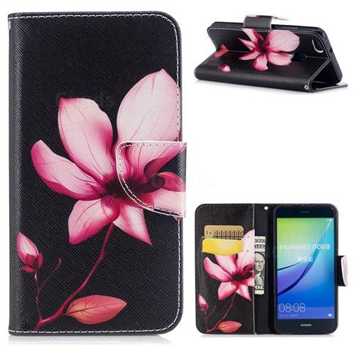 Lotus Flower Leather Wallet Case for Huawei P10 Lite P10Lite