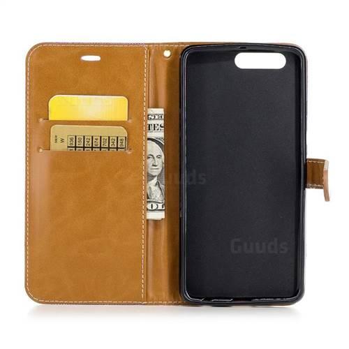 Jeans Cowboy Denim Leather Wallet Case for Huawei P10 Plus - Purple