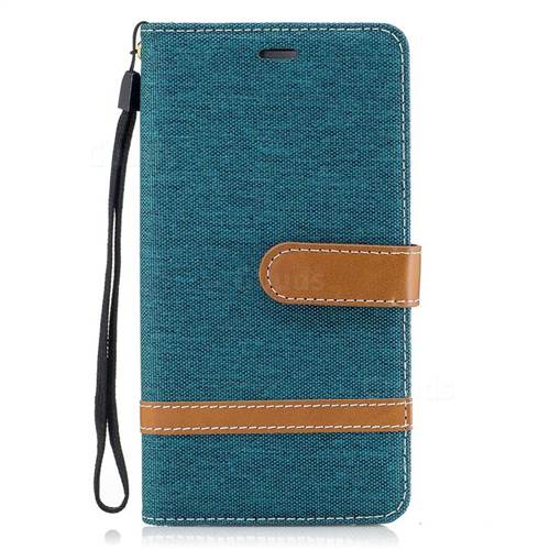 Jeans Cowboy Denim Leather Wallet Case for Huawei P9 Lite G9 Lite - Green