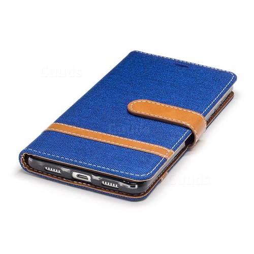 Jeans Cowboy Denim Leather Wallet Case for Huawei P9 Lite G9 Lite - Sapphire