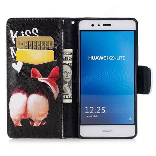 Lovely Pig Ass Leather Wallet Case for Huawei P9 Lite G9 Lite