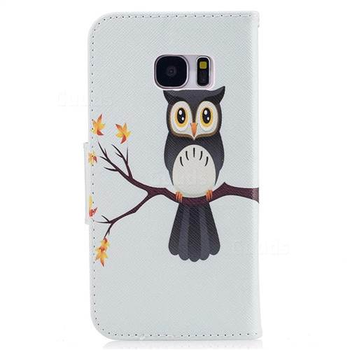 Owl on Tree Leather Wallet Case for Samsung Galaxy S7 G930