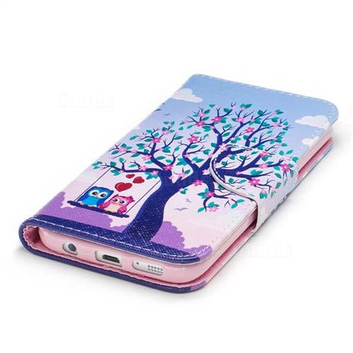 Tree and Owls Leather Wallet Case for Samsung Galaxy S7 G930