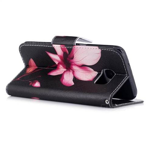 Lotus Flower Leather Wallet Case for Samsung Galaxy S7 Edge s7edge