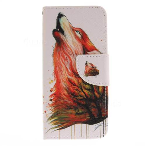 Color Wolf PU Leather Wallet Case for Samsung Galaxy S8 Plus S8+