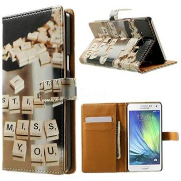 Love Letters Leather Wallet Case For Samsung Galaxy A3