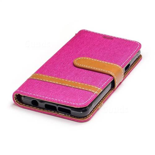 Jeans Cowboy Denim Leather Wallet Case for Samsung Galaxy A3 2016 A310 - Rose