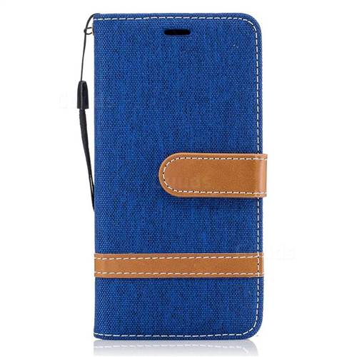 Jeans Cowboy Denim Leather Wallet Case for Samsung Galaxy A3 2016 A310 - Sapphire