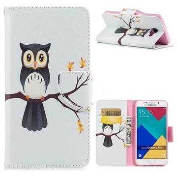 Owl on Tree Leather Wallet Case for Samsung Galaxy A5 2016 A510